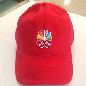NBC Olympics Rare Peacock and Rings Hat